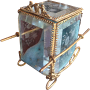 Etched Beveled Glass Sedan Chair