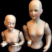Pair of Lovely Half German Bisque Dolls