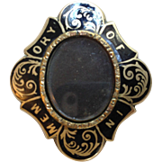 """Mourning Pin """"In Memory Of"""" for Photo or Hair"""