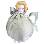 Set of 5 Miniature Bisque Doll Sachets