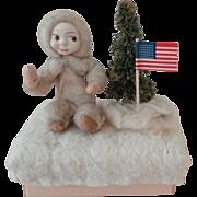 Spun Cotton Snow Baby Candy Container Box
