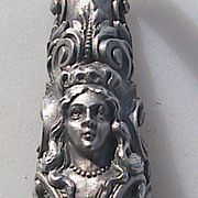 Sterling Silver Very Ornate Tussie Mussie Posy Flower Holder
