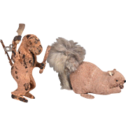 Adorable Monkey and Squirrel Wind up Toys