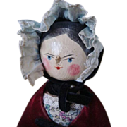 SOLD Early Wooden Peg Penny Doll