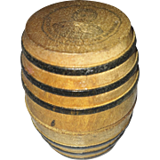 Very Old Miniature Wooden Barrel Dollhouse Size