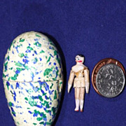 Miniature Peg Wooden Doll in Egg