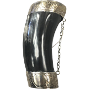 Swedish Sterling Silver Drinking Horn