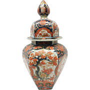 19th Century Japanese Imari Ceramic Covered Vase