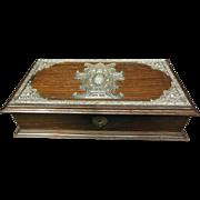 Leitao & Irmao Wooden Box with Sterling Overlay