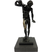 Signed Bronze Satyr Sculpture by H. Gladenbeck & Sohn