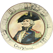 Vintage Royal Doulton Porcelain Professionals Portrait Plate – The Admiral