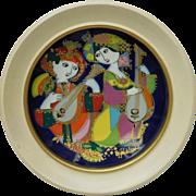 Signed Bjorn Wiinblad Studio Line Rosenthal Decorative Plate - Orientalische Nachtmusik ...