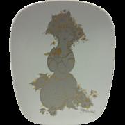 Signed Bjorn Wiinblad Studio Line Rosenthal 100 Year Anniversary Commemorative Plate