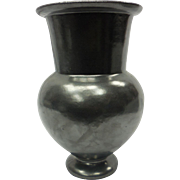 c. 1920 Rare Black Neoclassical Garden Terra Cotta Galloway Pottery Vase