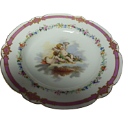 French Cherub Hand-Painted Plate