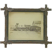 "REDUCED Original Portland & Ogdensburg Railroad  Locomotive named ""Resolution"" Photo"
