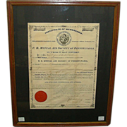 "REDUCED Lebanon,Pa. "" U. B. Mutual Aid Society "" Insurance Company 3 Piece Grouping"