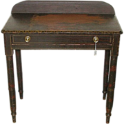 REDUCED Ohio Valley Original Painted Sheraton Side Table with Single drawer !