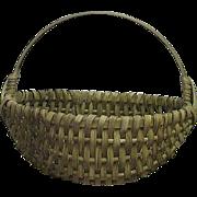 SOLD Desirable Small Size Splint White Oak Woven Oval Basket  !