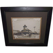 "REDUCED Framed Lebanon,Pa. Passenger Station ""Philadelphia & Reading Railway"" Photo"