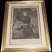 "Authentic 1796 Engraved Print of ""Napoleon Bonaparte on the Arcole Bridge Nov.17,1796"""