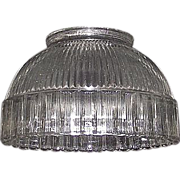 REDUCED Halophane Type Reflective Shade with Scalloped Edge & Standard  3 3/8 inch Base Fitter