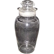 """REDUCED Urn Shaped """"Apothecary Show Jar""""  2 part Blown Molded with a Molded Lid !  C"""