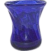 REDUCED Whimsical Blown Cobalt Blue Miniature Glass Vase !