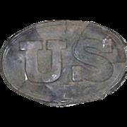 "REDUCED Civil War Period Excavated  Relic ""US Belt Buckle"" die stamped front & m"