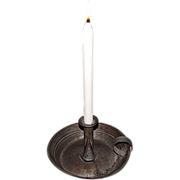 "REDUCED Museum Quality Tinsmith ""Candle Stick Holder"" aka ""Chamber Stick"""