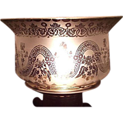 """REDUCED Queen's Crown Top on a 5 inch Blown Glass Shade with """"Classical Draped ..."""