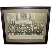 "REDUCED The ""First Defenders""  30 Civil War Veteran Group Photo, as seen in front of"