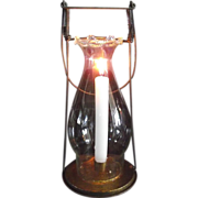 """REDUCED 1894 """"Fred Fear"""" Candle Lantern Patented in 1894 with Fancy Pie Top Chimney."""