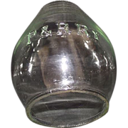 "REDUCED Clear Glass  ""P. & R. Ry."" = Philadelphia & Reading Railway Lantern Globe."