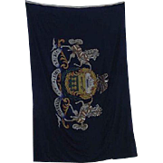 REDUCED GIANT  Pennsylvania State Flag Hand Colored in a Large Garrison Size 9 X 14.5  Feet !!