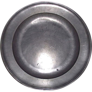 """SOLD """"Townsend & Compton"""" Pewter Charger , 15 inch  from London,England, Ca. 1801-18"""