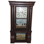 REDUCED Civil War Period Triple Decker  8 Day E.N. Welch Clock with New York ...