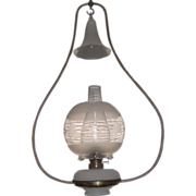 REDUCED Complete Ives Brass Harp Oil Lamp, Great for Hanging over the Boss's Desk ...