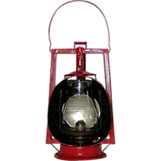 "REDUCED ""Dietz Acme Inspector"" Kerosene Lamp with Metal Reflector !"