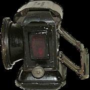 "REDUCED Marked ""Argonaut"" Bicycle Lantern Headlight with Original Black Paint !!! Ca"