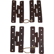 "REDUCED Two Sets of ""H"" Hinges for Cupboard Doors !!! Circa 1860."