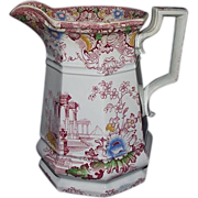 """REDUCED Near Mint """"Cleopatra"""" marked Pitcher with Excellent Color !!!  Circa 1860's."""