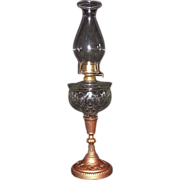 """REDUCED """"LOMAX"""" Patented Oil lamp with """"Fireside"""" Burner & Unique Chimney"""