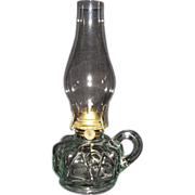 REDUCED Near Mint Finger Lamp with Zero N.O.S. Burner & Chimney !!!  WW-1 Period Ca. 1915.