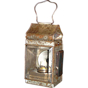 REDUCED European Clip on Lantern with Red Lens on Reverse ! Ca. 1900