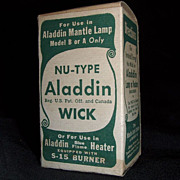 "REDUCED ""Aladdin Nu-Type Wick"" N.O.S. in Box  Fits the S-15 Burner !"