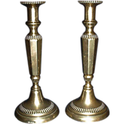 REDUCED Pair of Large Brass Baroque Candlestick Holders with Stub Removers !