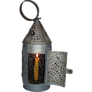 "REDUCED ""Paul Revere Type"" Candle Lantern ! Circa 1820-50's."