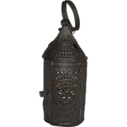 "REDUCED All Original ""Paul Revere Type"" Candle Lantern !  Circa 1820."
