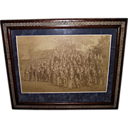 REDUCED Newburgh, NY. Civil War Veterans Group Framed Photo : Circa 1889 !!!